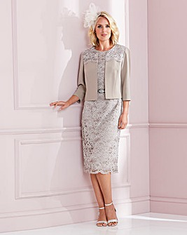 Nightingales Champagne Lace Dress And Jacket