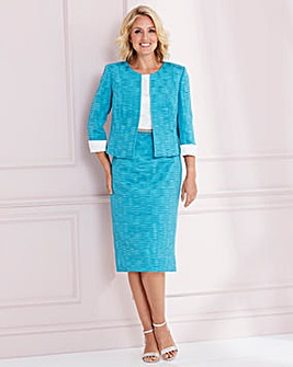 Nightingales Textured Dress and Jacket