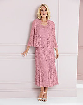 Nightingales Pink Lace Dress and Jacket