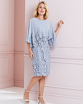 Nightingales Lace Cape Overlay Dress