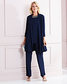 Nightingales Navy 3-Piece Trouser Set