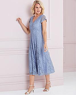 Nightingales Midi Scallop Lace Dress