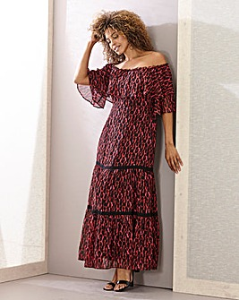Joanna Hope Leopard Gypsy Dress