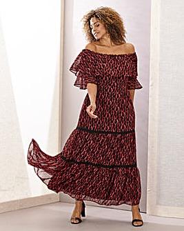 Joanna Hope Leopard Gypsy Maxi Dress