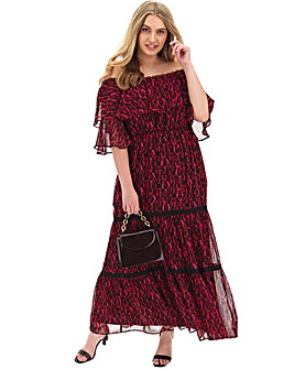 Joanna Hope Leopard Gypsy Maxi Dress