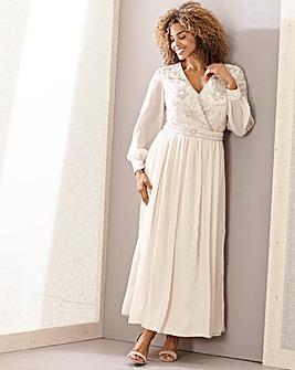 Joanna Hope Embellished Wrap Maxi Dress