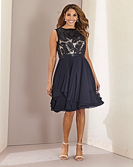 Joanna Hope Frill Hem Embellished Dress