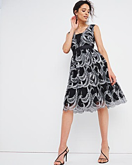 Joanna Hope Silver Embroidered Dress