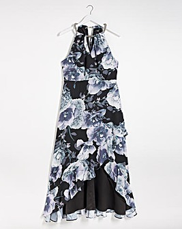 Joanna Hope Print Waterfall Necklace Dress