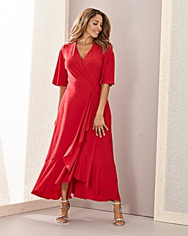 Joanna Hope Frill Hem Maxi Dress