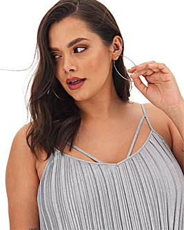 Joanna Hope Metallic Pleat Cami