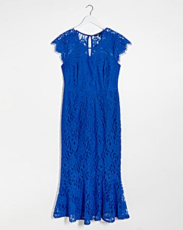 Joanna Hope Lace Frill Hem Maxi Dress