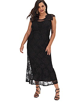 Joanna Hope Lace Column Maxi Dress