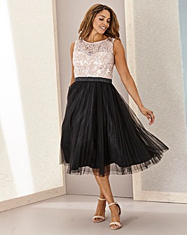 Joanna Hope Sequin Contrast Fit N Flare Dress