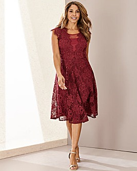 Joanna Hope Lace Fit N Flare Dress