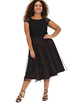 Joanna Hope Leopard Fit N Flare Dress