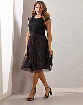 Joanna Hope Leopard/Lace Prom Dress