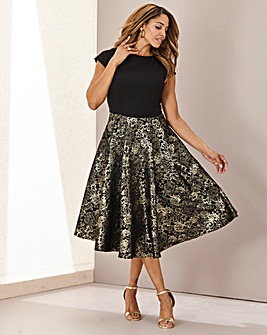 Joanna Hope Jacquard Fit n Flare Dress
