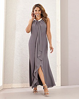 Joanna Hope Pearl Waterfall Maxi Dress