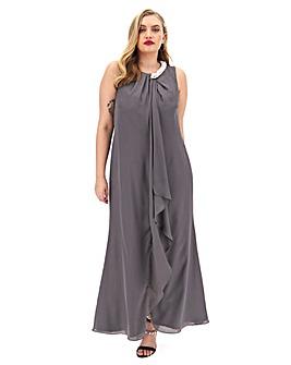 Joanna Hope Pearl Waterfall Maxi Dress