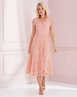 Nightingales Midi Scallop Lace Dress