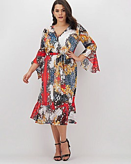 Joanna Hope Print Wrap Dress