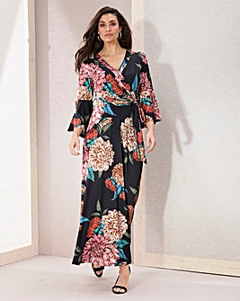 Joanna Hope Jersey Wrap Maxi Dress