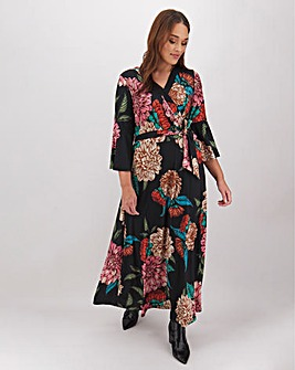 Joanna Hope Tie Waist Floral Maxi Dress