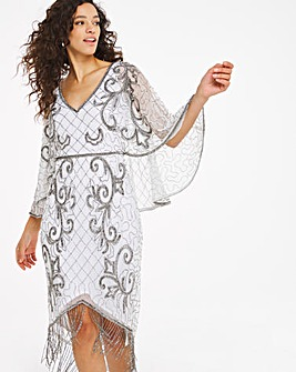 Joanna Hope V-Neck Beaded Dress
