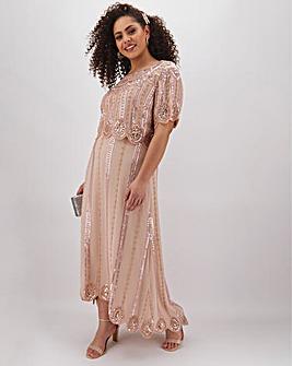Joanna Hope Beaded Layer Dress