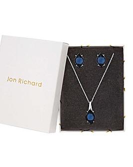 Jon Richard Blue Pendant And Earring Set