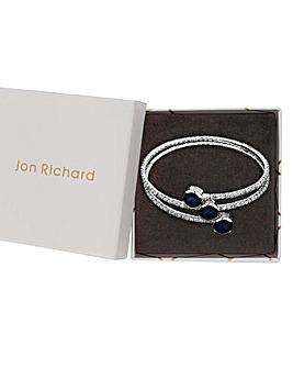 Jon Richard Blue Crystal Twist Bangle