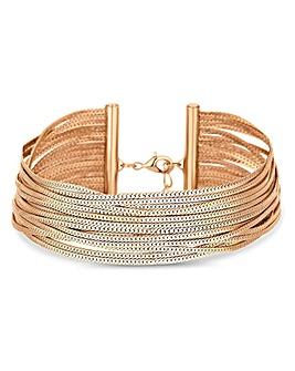 Lipsy Gold Plated Slinky Bracelet