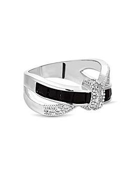 Jon Richard Black Knot Crossover Ring