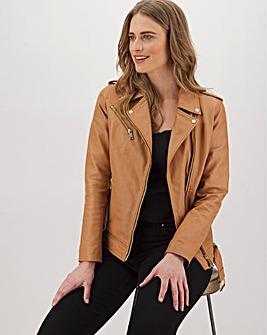 Joanna Hope Fashion Stud Leather Jacket