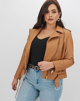Joanna Hope Fashion Stud Leather Jacket