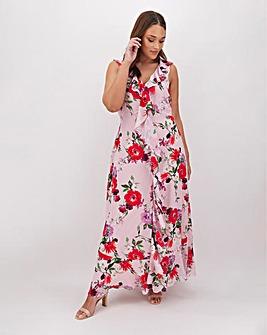 Joanna Hope Frill Sleeveless Midi Dress