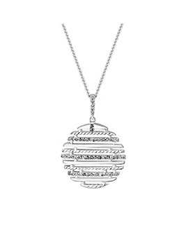 Simply Silver Disc Pendant Necklace