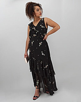Joanna Hope Embellished Frill Maxi Dress