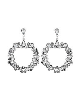 Lipsy Silver Plated Front Facing Earring