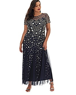 Joanna Hope 3D Petal Effect Sequin Maxi