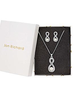 Jon Richard Infnity Cream Faux Pearl Set