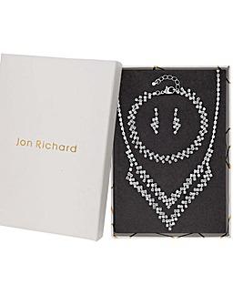 Jon Richard Crystal Tennis V Shape Set