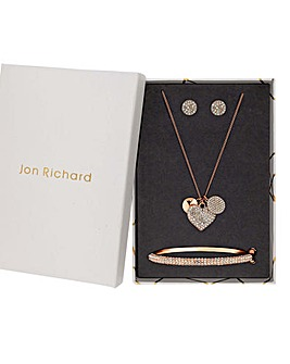 Jon Richard Gold Heart Charm Pendant Set