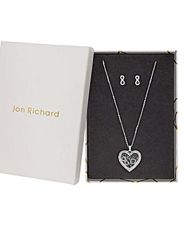 Jon Richard Heart Shaker Pendant Set