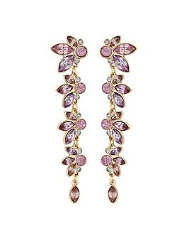 Lipsy Rose Gold Plated Leaf Earrings