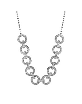 MOOD Silver Pave Circle Allway Necklace
