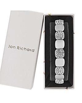 Jon Richard Silver Pave Stretch Bracelet