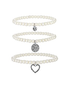 Jon Richard Charm Bracelet 3 Pack