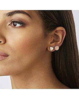 Lipsy Rose Gold Heart Earring 2 Pack